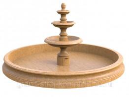 Фонтан из камня тип 4 Три Чаши от производителя Гранит, ракушечник, мрамор