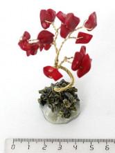 Sv27-00002 Дерево из коралла красного, 8-9 см, галтовка мелкая
