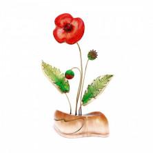 Sv44-00467 Цветок из селенита «мак большой»