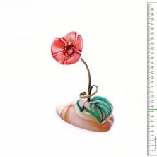 Sv44-00469 Цветок из селенита «мак»