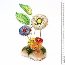 Sv44-00462 Цветок из селенита «композиция с ромашками»