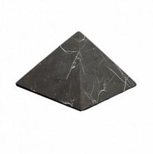 Sv59-00028 Пирамида из шунгита неполированная, размер основания 70-75мм, 200г