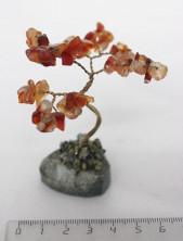 Sv45-00002 Дерево из сердолика 8-9см, галтовка мелкая