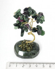 Sv57-00002 Дерево из цоизита, 8-9см, галтовка мелкая