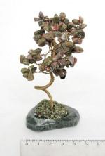 Sv09-00001 Дерево из унакита 9-11cм, галтовка мелкая