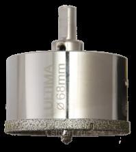 Сверло алмазное по керамограниту Ultima 68 х 67 мм,3-гранный хвостовик, 113075