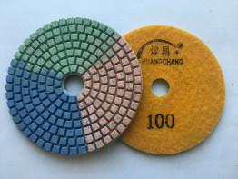 """Алмазные гибкие диски Ø 100 """"Tricolor"""" c водяным охлаждением №100"""