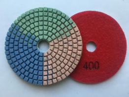 """Алмазные гибкие диски Ø 100 """"Tricolor"""" c водяным охлаждением №400"""