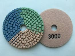 """Алмазные гибкие диски Ø 100 """"Tricolor"""" c водяным охлаждением №3000"""