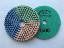 """Алмазные гибкие диски Ø 100 """"Tricolor"""" c водяным охлаждением №1500"""