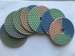 """Алмазные гибкие диски Ø 100 """"Tricolor"""" c водяным охлаждением (Комплект)"""