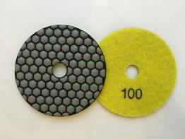 """Алмазные гибкие диски Ø 100 """"Соты"""" сухие (7 номеров) №100"""