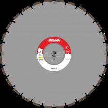 Алмазный диск для стенорезных машин WSF 300 (40x4,5x10 28 сегментов) от 20 кВт, Ø=600 мм.