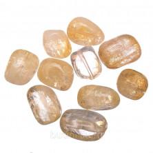 Бусины каменные, цитрин, неправильной формы, 14*9-25*15мм, 10 шт., низка
