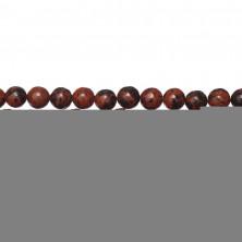 Бусины каменные, обсидиан, махагоновый, 6мм, 58 шт., низка