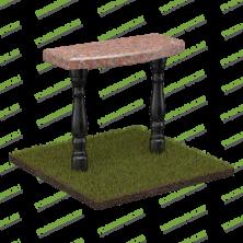 Столик из красного и черного гранита на могилу