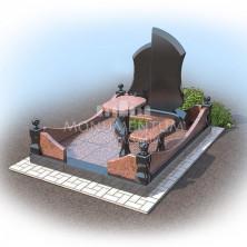 Гранитная ограда для мест захоронения. цоколь