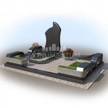 Гранитная ограда для мест захоронения. цоколь 8