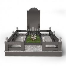 Гранитная ограда для мест захоронения. цоколь 11.