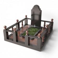 Гранитная ограда для мест захоронения. Цоколь 13