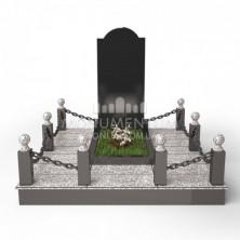 Гранитная ограда для мест захоронения. Цоколь 14