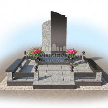 Гранитная ограда для мест захоронения. Цоколь 17