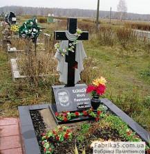 Крест на могилу с покрывалом