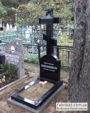 Крест на могилу гранитный