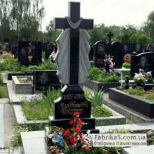 Крест на могилу гранитный. черный