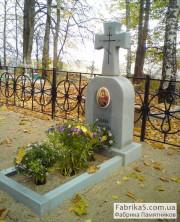 Крест на могилу гранитный. светлый