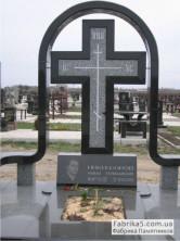 Крест на могилу из черного гранита габбро