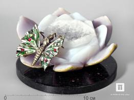 Композиция из агата с кристаллами горного хрусталя