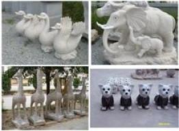 Каменная скульптура животных