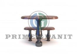 Стол и лавка из двух видов гранита