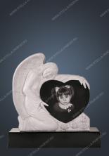 Элитный памятник ангел с сердцем