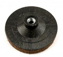 Круг фетровый грубошерстный на пластиковой основе d125мм, h-20мм