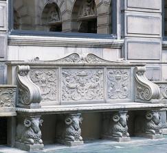 Каменная скамья. Raphael Seat