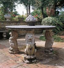 Каменный стол. Circular Table Top
