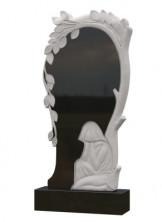 Памятник из черного гранита со скорбящей