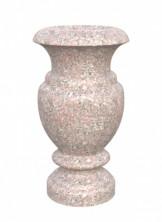 Серо-розовый гранит ваза