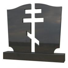 Памятник из черного гранита (резной)