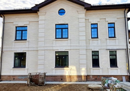 Облицовка фасада дагестанским песчаником