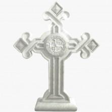 Крест мраморный белый
