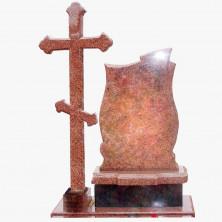 Крест гранитный со стелой