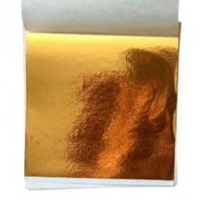 Глянцевая поталь золото В, 9х9 см, 500 л ( 4 кв.м.)
