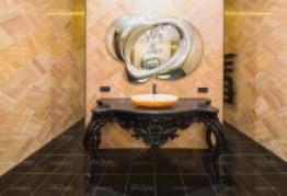Столешница в ванной комнате из гранита
