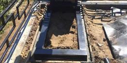 Установка памятников на кладбище