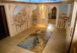 """Мозаичное напольное панно """"Венеция""""."""