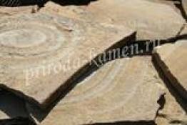 Плитняк песчаник «янтарный с разводами»