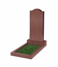 Памятник  резной вертикальный 1000*450*70 (Индия, красный )